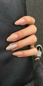nude stiletto gold glitter