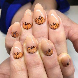 pumpkins on nude
