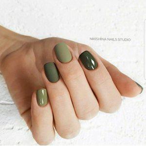 matte shine green