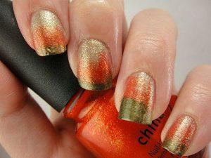 green orange gold