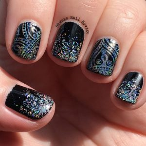 black glitter holo