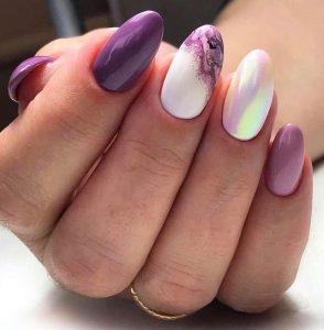 white purple iridescdent