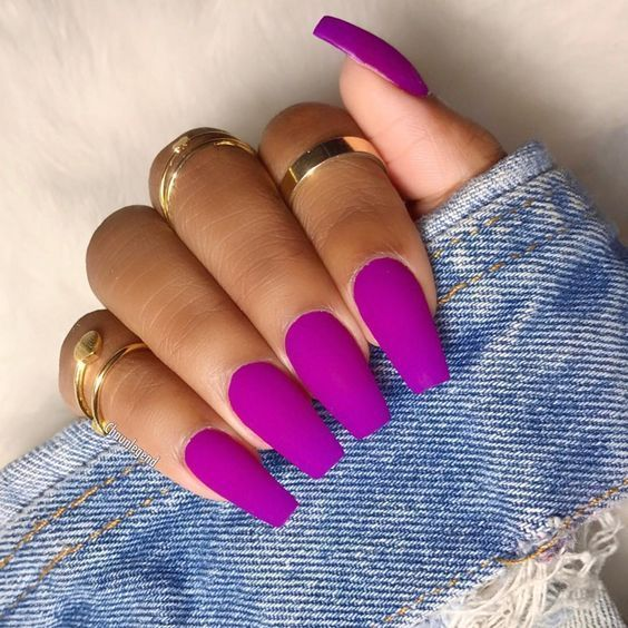 matte purple bright