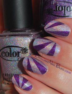 glitter purple tones