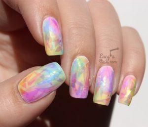 multicolor ombre holo
