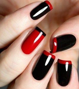black red tips