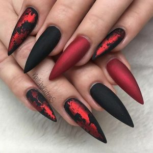 red black chrome matte