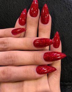 stiletto glitter sharp