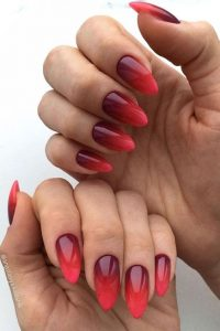 dark to bright red