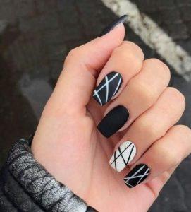 matte black white