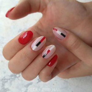 red black white stripe