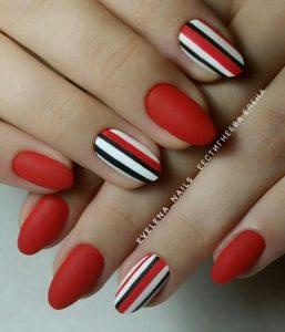 matte red striping