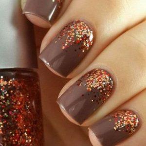 orange glitter brown