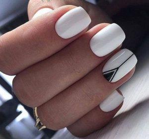 black triangle stripe white