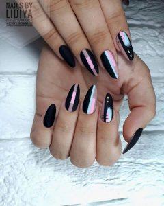 pastel and black modern matte acrylics