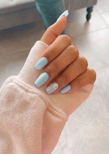 light blue daisy acrylic