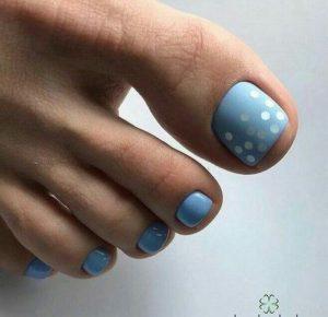 light blue pedicure