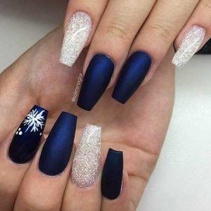dark blue matte flakes xmas