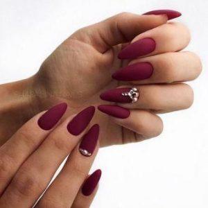 stiletto burgundy matte