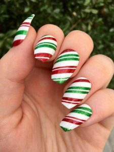 red white green striping