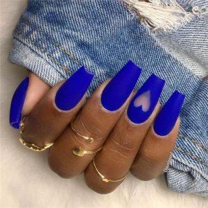 matte blue hearts