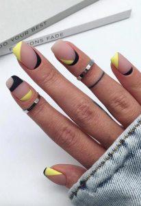 short acrylic clear yellow