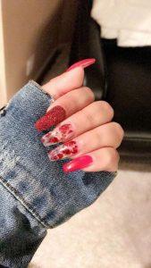 glitter clear red