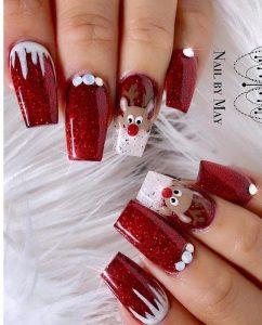 red reindeer design