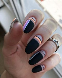 pastel stripes with matte black