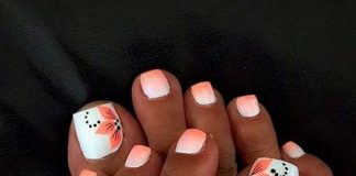 flower orange white toes