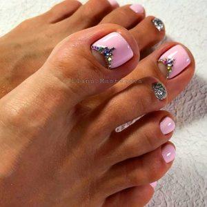 princess toe nails