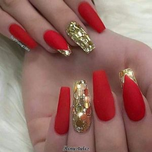 large gold glitter red