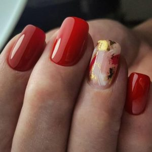 clear foil design with red