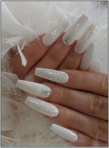 white glitter coffin