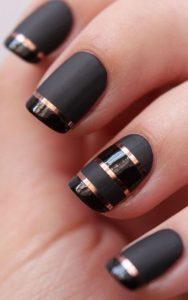 gold stripes on matte black