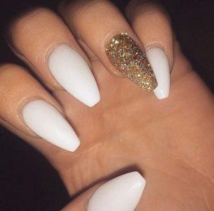 glitter gold white