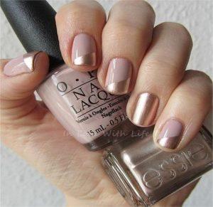nude gold chrome