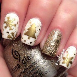 white gold glitter xmas
