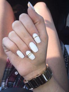 metallic gold white polish