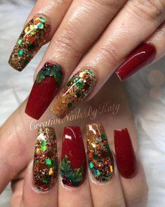 multi glitter holiday