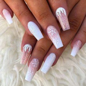 pink glitter xmas