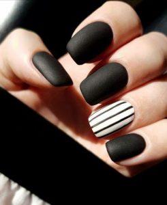 black white stripes matte