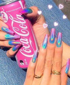 rainbow iridescent finish summer