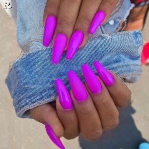summer purple neon