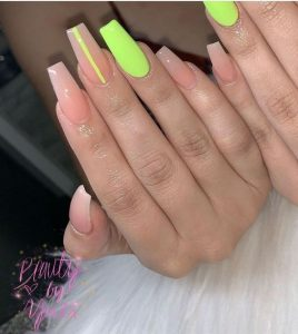 striped neon clear acrylic