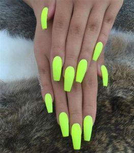 solid neon yellow summer