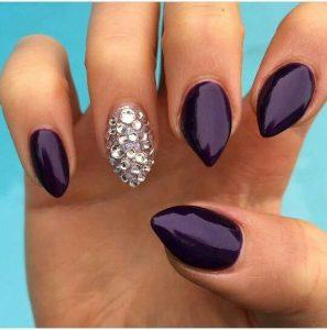 purple silver stiletto short