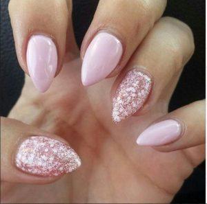 pink glitter stiletto