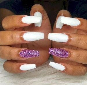 solid white glitter summer