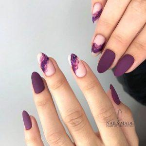painted nude purple matte